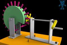 Reciprocating Wheel and Pins Mechanism - SketchUp,Parasolid,SOLIDWORKS,Autodesk 3ds Max,OBJ,STEP / IGES,STL - 3D CAD model - GrabCAD