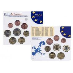 Bundesrepublik Deutschland, Euro-Kursmünzensatz 2004, ADFGJ komplett, st: Euro-Kursmünzensatz 2004 ADFGJ komplett. stempelfrisch… #coins
