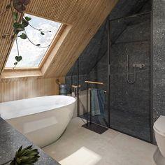 Loft Bathroom, Small Bathroom, Space Saving Bathroom, Attic House, Loft House, Ideal Bathrooms, Upstairs Bathrooms, Country Interior Design, Bathroom Interior Design