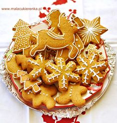 Christmas Eve, Xmas, Cooking Cookies, Healthy Sweets, Gingerbread Cookies, Cookie Recipes, Fondant, Menu, Baking