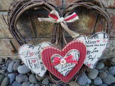 Valentines Sale, Valentine Wreath, Valentine Decorations, Valentine Gifts, Valentine Heart, Valentine Ideas, Wedding Decorations, Twig Wreath, Heart Wreath