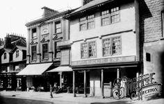 Highgate, The Fleece Inn And Clarence Webb's Shop 1914, Kendal