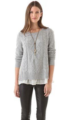 Clu Sweater with Metallic Trim, diy to old sweaters