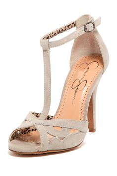 Jeraldine T-Strap Sandal by Jessica Simpson. I'm a fan of the T strap. And Jessica Simpson. Pretty Shoes, Beautiful Shoes, Cute Shoes, Me Too Shoes, Beautiful Things, Dream Shoes, Crazy Shoes, Fashion Shoes, Fashion Accessories