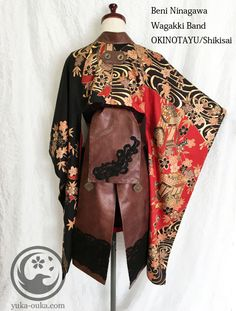 Oriental-influenced style cape with leather embroidered skirt Japanese Outfits, Japanese Fashion, Cool Outfits, Fashion Outfits, Oriental Fashion, Character Outfits, Kimono Fashion, Gothic Lolita, Costume Design
