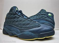e22017fccfb9fb Nike Air Jordan XIII 13 Retro Size 13 - Navy Blue Yellow - Squadron - 414571  405