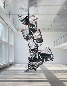"Contemporary Art Blog | Monika Sosnowska, ""Stairway"", 2010"