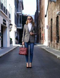с чем носить твид, женский твидовый пиджак