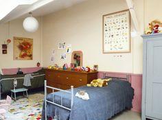 Chambre enfant murs pastel