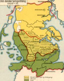 Kort over sprogområderne i Sønderjylland Denmark Map, Old Maps, Historical Maps, Public School, Ancestry, Arctic, Germany, Reading, Culture