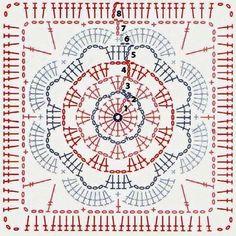 """59 Synes godt om, 1 kommentarer –  M a g a l i  (@rosecultivee) på Instagram: """"#crochet #crochetdiagram #grannysquare #diagramcrochet #grannysquares"""""""