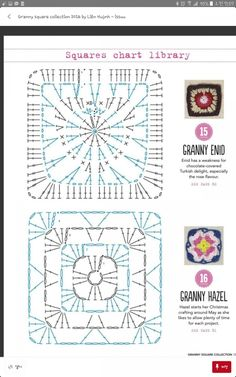 from Granny square collection 2016 Grannies Crochet, Crochet Mat, Crochet Wool, Manta Crochet, Crochet Blocks, Crochet Cross, Crochet Doilies, Motifs Granny Square, Granny Square Crochet Pattern