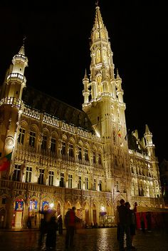 The Town Hall of the Grand Place of Brussels.
