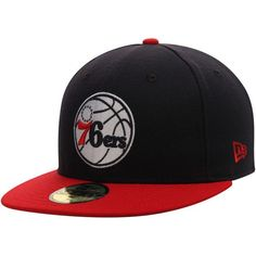 35640515be2 Philadelphia 76ers New Era 59FIFTY Custom Fitted Hat - Black Red ...