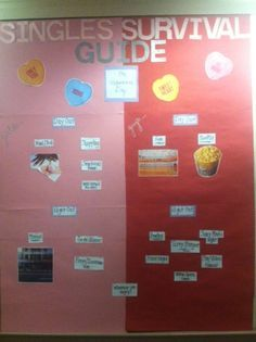 RA's Ian and Kayla from the fourth floor of Peabody have created a singles survival guide for Valentines Day! A variety of activities have been posted to give our female and male residents an idea of what to do on Valentines Day when single and in the city!