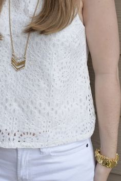 White on White- a perfect outfit for spring!!