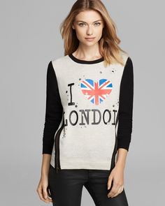 Aqua Sweatshirt - I Heart London Zip | Bloomingdale's