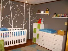 Trees and birds.  Great for a boy or girl who will someday love the outdoors.