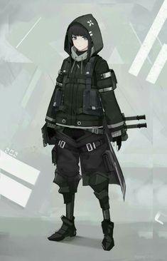 The Messenger, Nara - character inspo , Fantasy Character Design, Character Design Inspiration, Character Concept, Character Art, Cyberpunk Anime, Cyberpunk Art, Mode Emo, Anime Krieger, Anime Military