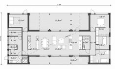 Apollo 200 1A U Shaped House Plans, U Shaped Houses, Rectangle House Plans, Southern House Plans, Interesting Buildings, New Home Designs, Architecture Plan, House Floor Plans, Villas