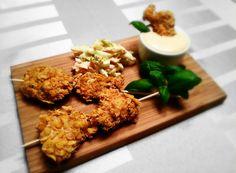 Pampuchy - wszystko o gotowaniu: Nuggetsy w panierce z płatków kukurydzianych