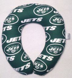 New York Jets Travel/Neck Pillow by AuntShellDesigns on Etsy