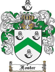 FOSTER FAMILY CREST - COAT OF ARMS gifts available at www.4crests.com