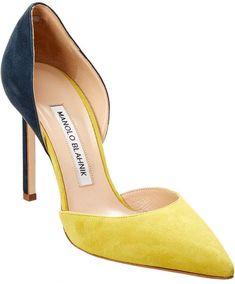 Women's Fashion heels – Everything About Women's Heels Suede Pumps, Women's Pumps, Yellow Pumps, Manolo Blahnik Heels, Winter Fashion Boots, Winter Boots, Fashion Heels, Court Shoes, Womens Flats