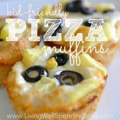 Kid Friendly Pizza Muffins Square
