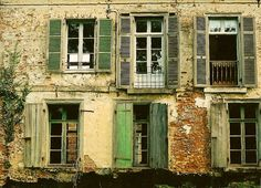 old green shutters