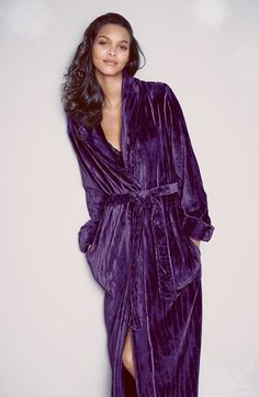 Natori Imperial Robe - This regal purple robe looks so lush.