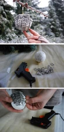 #DIY #recycling #christmasdecorations