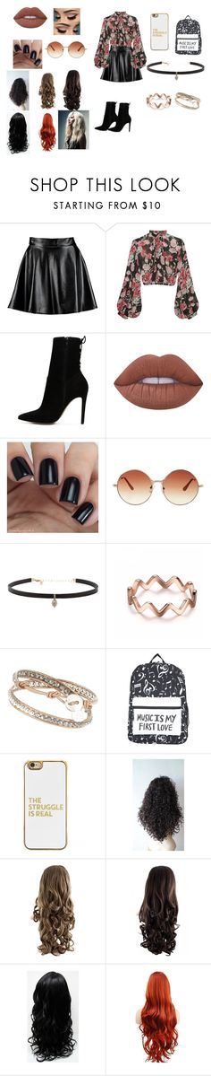 """Untitled #22"" by xxcrazycutexx ❤ liked on Polyvore featuring Boohoo, Jill Stuart, ALDO, Lime Crime, Topshop, Carbon & Hyde and BaubleBar"