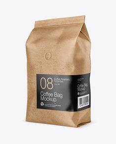 1kg Kraft Paper Coffee Bag Mockup In Bag Sack Mockups On Yellow Images Object Mockups In 2021 Mockup Bag Mockup Mockup Free Psd