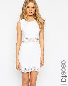 Изображение 1 из Короткое приталенное платье кроше ручной вязки ASOS TALL