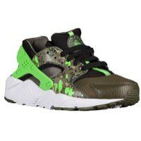 9d41a3a210e1 Nike Huarache Run - Boys  Grade School - Black Green Strike Cargo  Khaki Medium Olive White