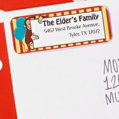 Cute Monkey Customized Address Labels (30)
