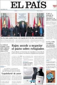 Portada de El País (España) kiosko.net