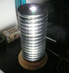 CD lamp, the finished stack inserted to the untreated base