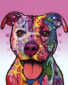 Pitbull  - Dean Russo   Crie seu quadro com essa imagem http://www.onthewall.com.br/ilustracao/pitbull #quadro #canvas #moldura