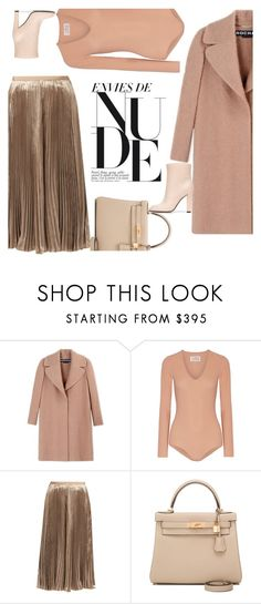 """""""Mix of materials"""" by naki14 ❤ liked on Polyvore featuring Rochas, Maison Margiela, Valentino, Hermès and Agnona"""
