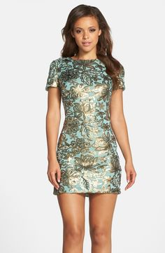 Dress the Population 'Beverly' Sequin Chiffon Minidress