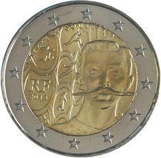 """Moneta Commemorativa """"150° anniv. nascita Pierre de Coubertin"""" Anno: 2013 Stato: Francia"""