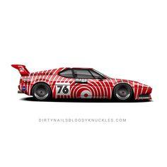 New artwork up. Dirtynailsbloodyknuckles.com Link in profile #bmw #m1 #bmwm1 #m1procar #procar #m1bmw #stanceworks #stancenation #canibeat #bmwm #mpower #jagermeister #warhol #basf #bmwart #bmwartcar #artcar #carart #autoart #lemans #racing #racecar #becauseracecar #imsa #alms #petitlemans
