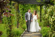 High House Weddings stunning flower filled pergola which acts as an aisle for outdoor weddings Gazebo, Pergola, Outdoor Weddings, Backdrops, Wedding Dresses, Flowers, House, Beautiful, Bridal Dresses