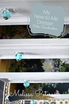 Check out my series on my dresser from color coordination to lining the drawers with fabric! ,
