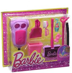 BARBIE Accessory Pack Assortment Glam Vacuum *** Visit the image link more details. Barbie Dolls Diy, Barbie Sets, Barbie Fashionista Dolls, Doll Clothes Barbie, Barbie Doll House, Barbie Stuff, Barbie Diorama, Elsa And Anna Dolls, Barbie Happy Family