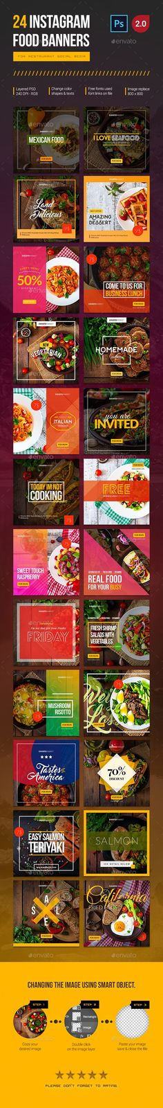 40 Instagram Food Banners