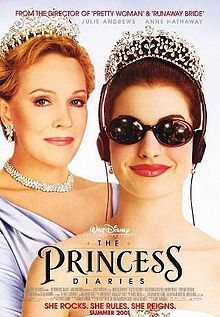 The Princess Diaries is a 2001 comedy film produced by singer and actress Whitney Houston and directed by Garry Marshall. It is based on Meg Cabot's 2000 novel of the same name. The film stars Anne Hathaway (her film debut) as Mia Thermopolis, a teenager who discovers that she is the heir to the throne of the fictional Kingdom of Genovia, ruled by her grandmother Queen Dowager Clarisse Renaldi, who is portrayed by Julie Andrews.