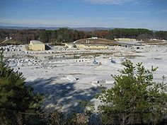World's largest open face quarry ,  Mount Airy, North Carolina -